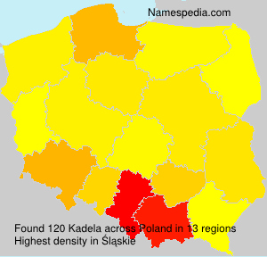 Surname Kadela in Poland