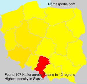 Surname Kafka in Poland