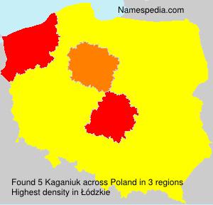 Familiennamen Kaganiuk - Poland