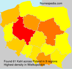 Surname Kahl in Poland