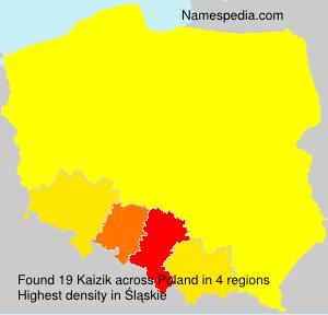 Surname Kaizik in Poland
