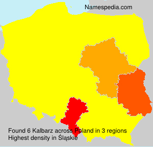 Surname Kalbarz in Poland