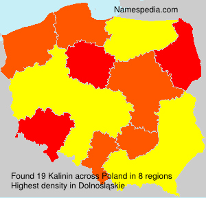 Surname Kalinin in Poland