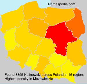 Surname Kalinowski in Poland