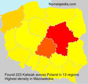 Surname Kalisiak in Poland