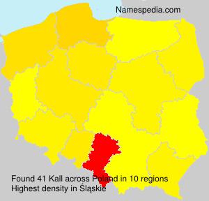 Surname Kall in Poland