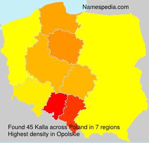 Familiennamen Kalla - Poland