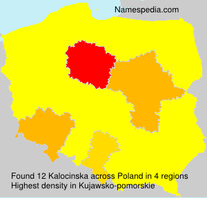 Surname Kalocinska in Poland