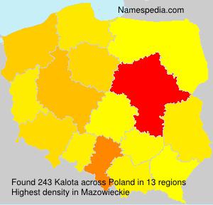 Familiennamen Kalota - Poland