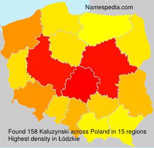 Surname Kaluzynski in Poland