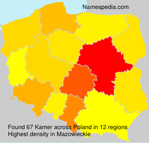 Surname Kamer in Poland