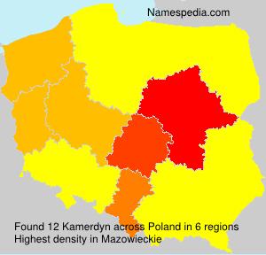 Familiennamen Kamerdyn - Poland