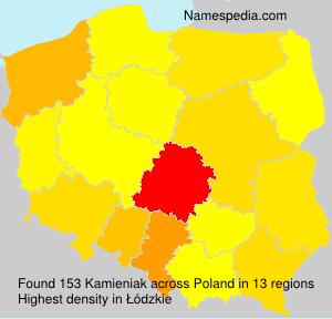 Familiennamen Kamieniak - Poland