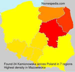 Surname Kamionowska in Poland