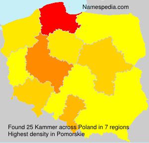 Familiennamen Kammer - Poland