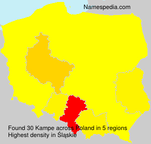 Surname Kampe in Poland