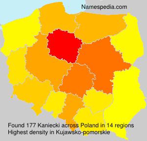 Surname Kaniecki in Poland