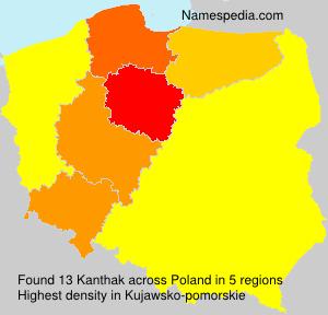 Surname Kanthak in Poland