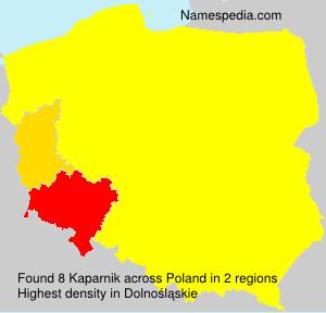 Surname Kaparnik in Poland