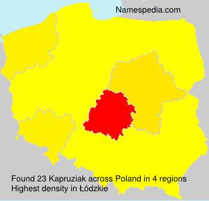 Surname Kapruziak in Poland