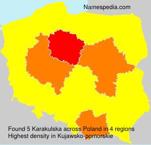 Surname Karakulska in Poland