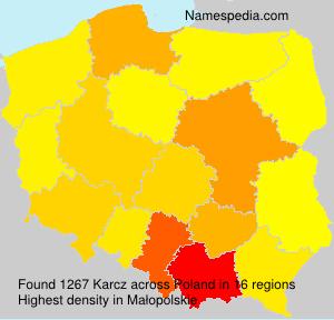 Surname Karcz in Poland