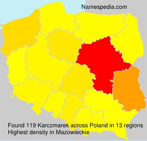 Surname Karczmarek in Poland