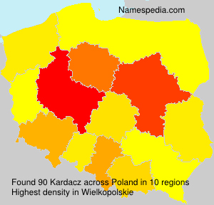 Surname Kardacz in Poland