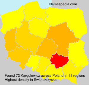 Surname Kargulewicz in Poland