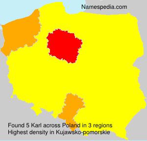 Surname Karl in Poland