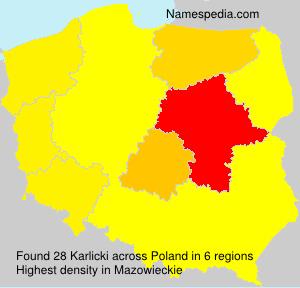 Familiennamen Karlicki - Poland