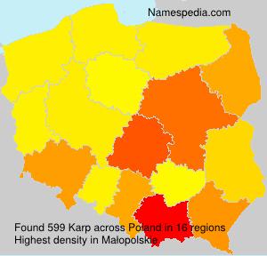 Surname Karp in Poland