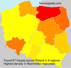 Surname Karpiej in Poland