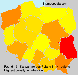Surname Karwan in Poland