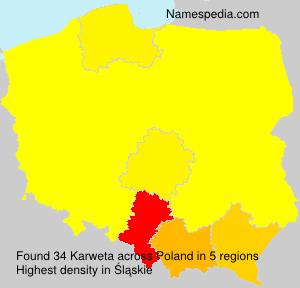 Surname Karweta in Poland