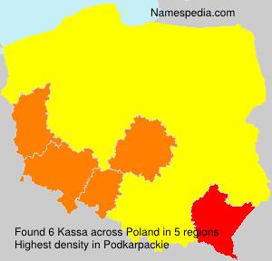 Familiennamen Kassa - Poland