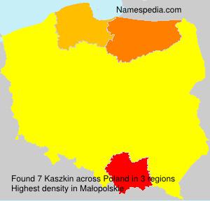 Surname Kaszkin in Poland