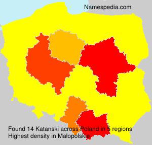 Surname Katanski in Poland