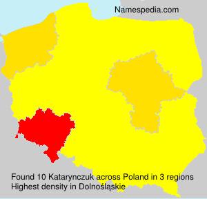 Surname Katarynczuk in Poland