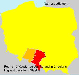 Surname Kauder in Poland