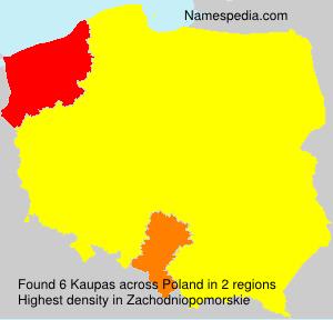 Familiennamen Kaupas - Poland