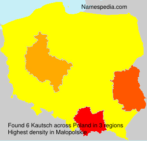 Familiennamen Kautsch - Poland