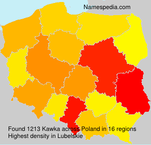 Familiennamen Kawka - Poland