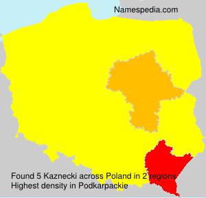 Surname Kaznecki in Poland
