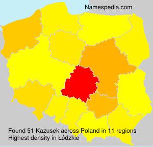 Surname Kazusek in Poland