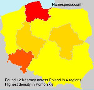 Surname Kearney in Poland