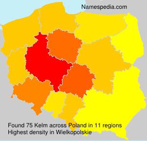 Surname Kelm in Poland