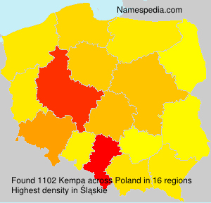 Surname Kempa in Poland