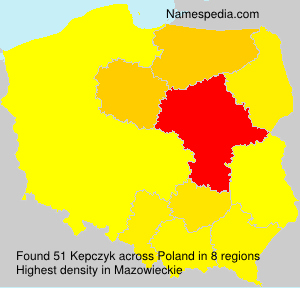Surname Kepczyk in Poland