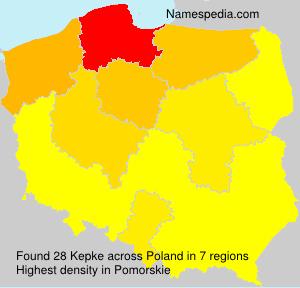 Surname Kepke in Poland